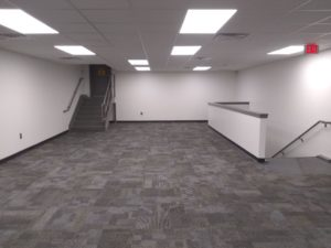 painting new offices at Woodbury Nissan in Woodbury, NJ
