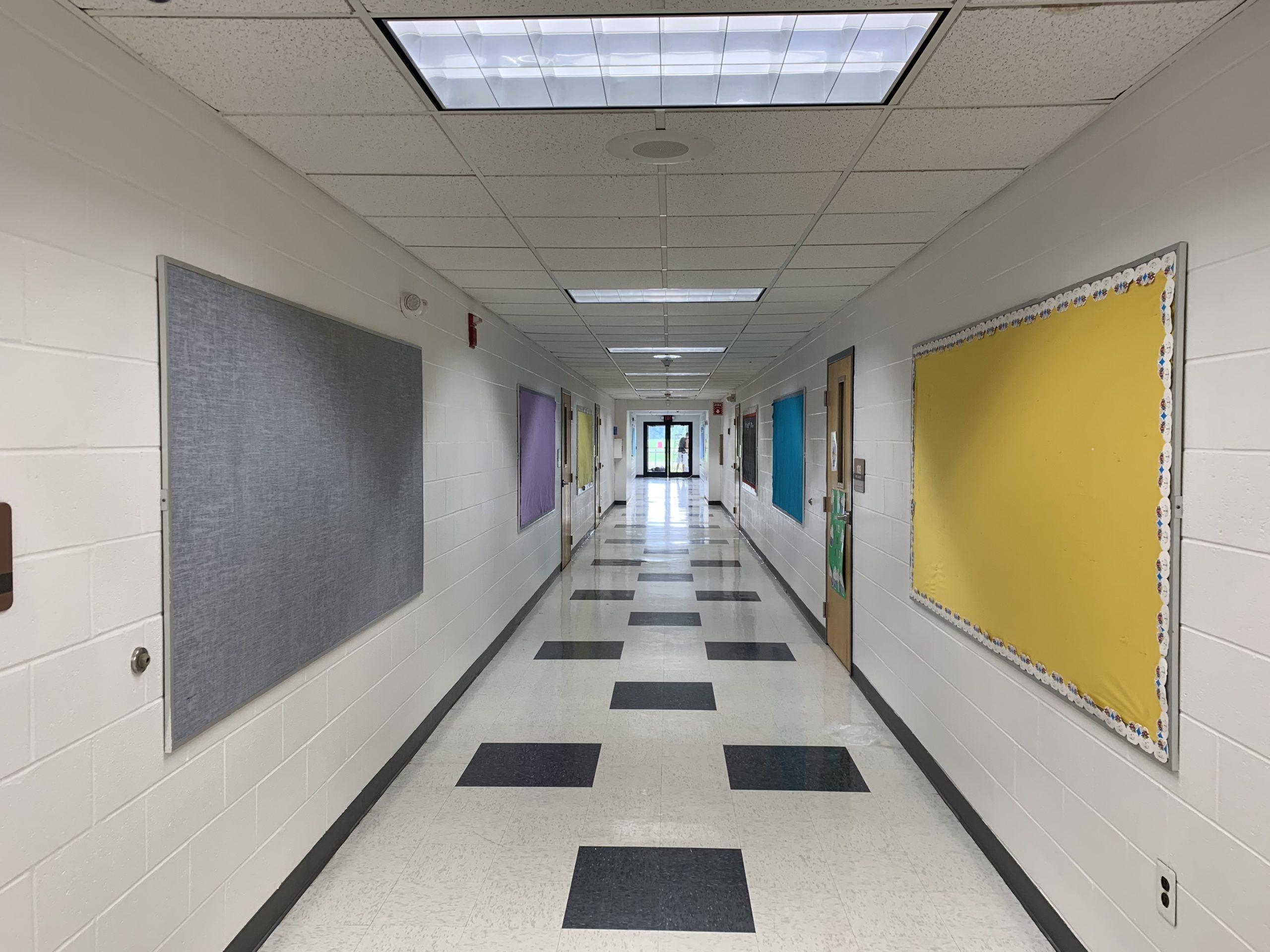DDS Paints Hallways at Aura Elementary School