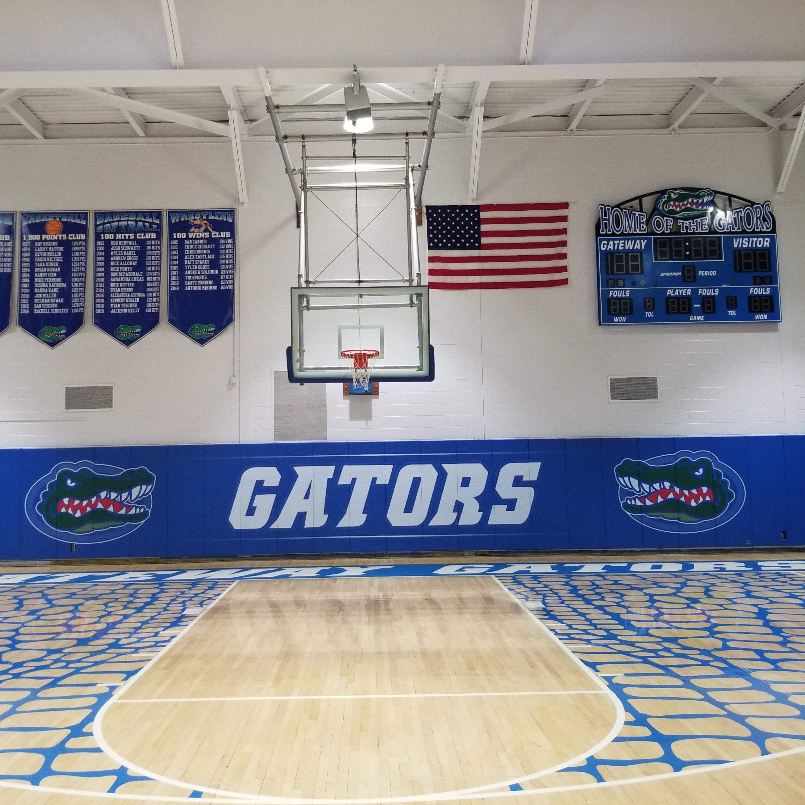 DDS Paints Gateway Regional High School Gymnasium