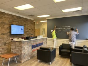DDS Paints D.R. Horton Offices