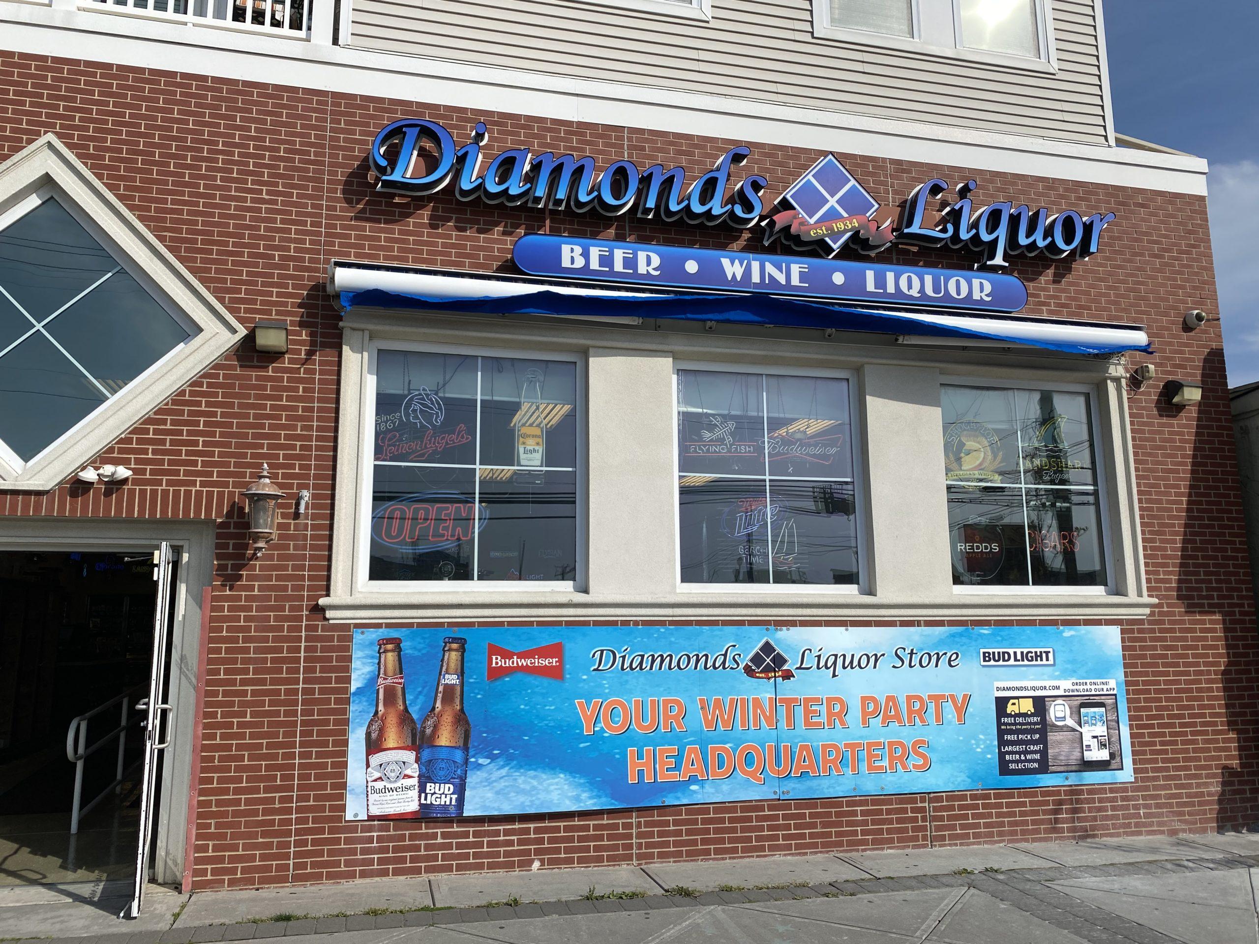 DDS Paints Diamond Liquors in Sea Isle City